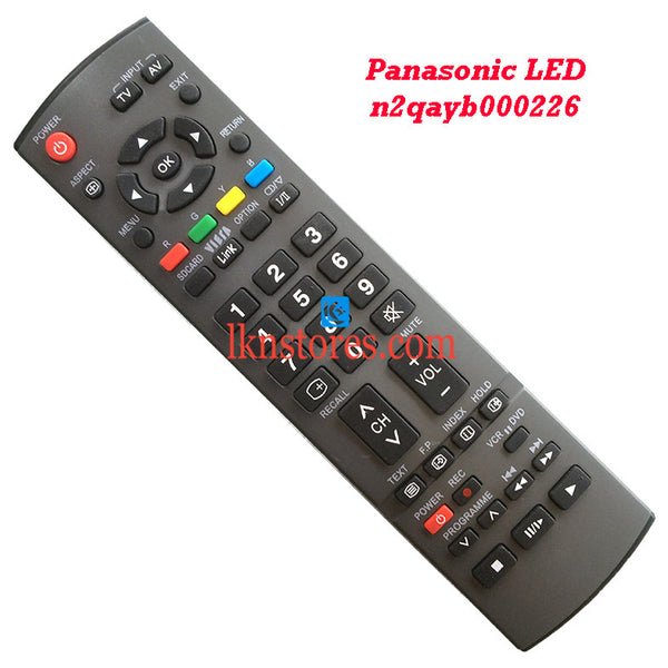 Panasonic N2QAYB000226 LED replacement remote control - LKNSTORES