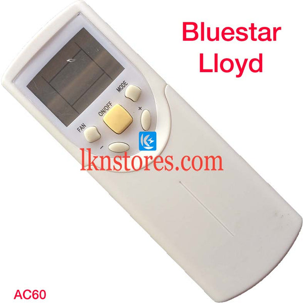 BLUESTAR LLOYD AC AIR CONDITION REMOTE COMPATIBLE AC60 - LKNSTORES