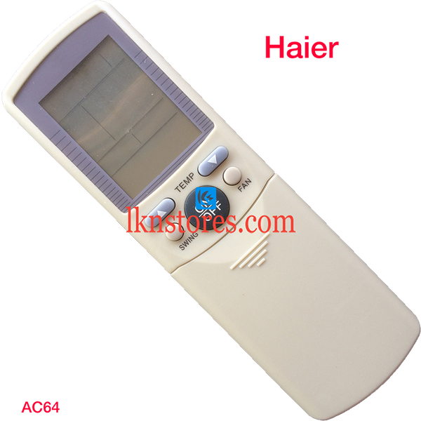 HAIER AC AIR CONDITION REMOTE COMPATIBLE AC64 - LKNSTORES