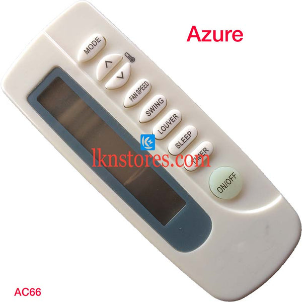 AZURE 5 IN 1 AC AIR CONDITION REMOTE COMPATIBLE AC66 - LKNSTORES