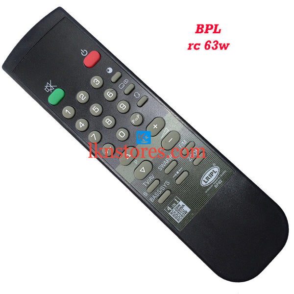 BPL RC 63W replacement remote control - LKNSTORES