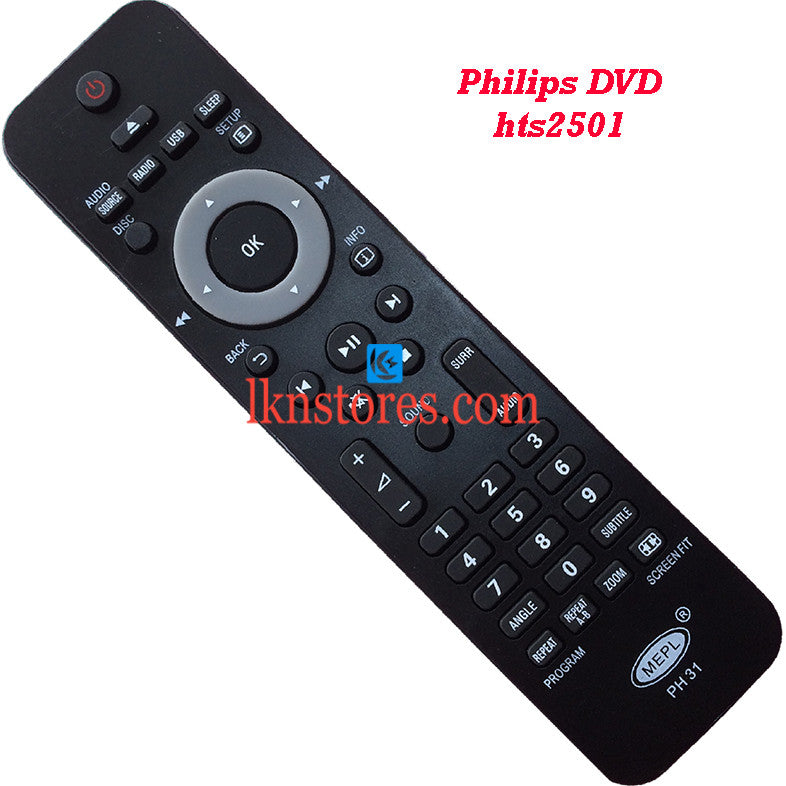 Philips HTS2501 DVD replacement remote control