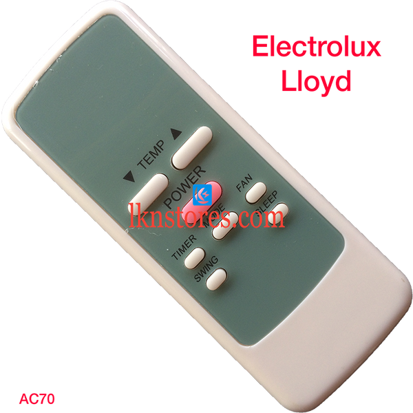 ELECTROLUX LLOYD AC AIR CONDITION REMOTE COMPATIBLE AC70