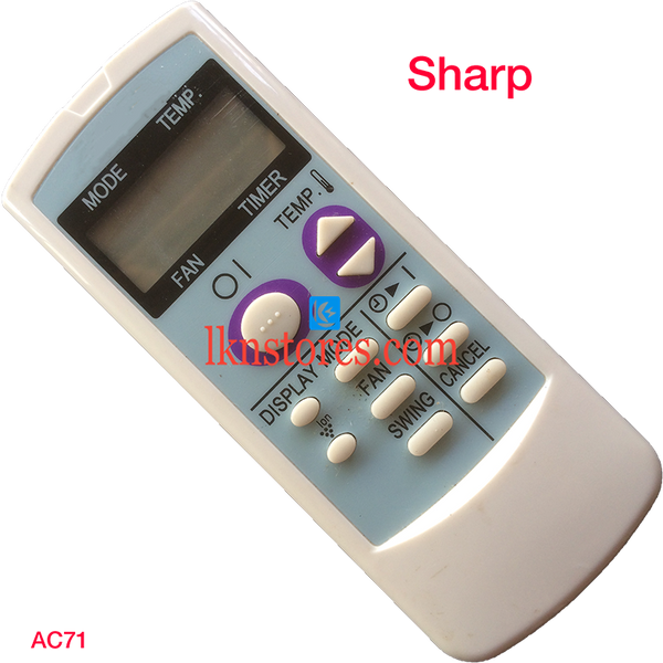 SHARP AC AIR CONDITION REMOTE COMPATIBLE AC71 - LKNSTORES
