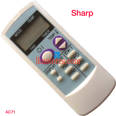 Sharp AC Air Condition remote control