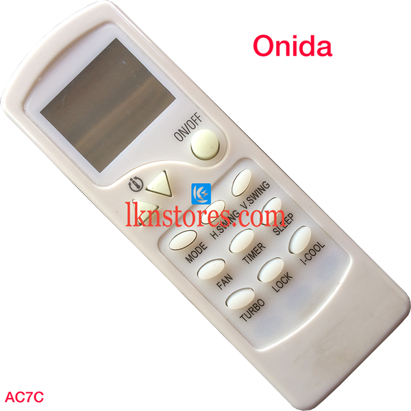 ONIDA AC AIR CONDITION REMOTE COMPATIBLE AC7C - LKNSTORES