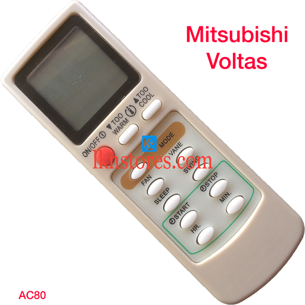 MITSUBISHI VOLTAS AC AIR CONDITION REMOTE COMPATIBLE AC80