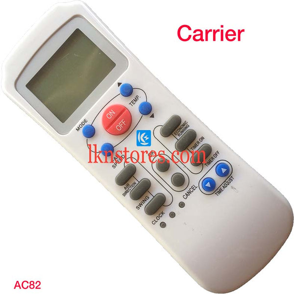 Carrier AC Air Condition Remote Compatible AC82 - LKNSTORES
