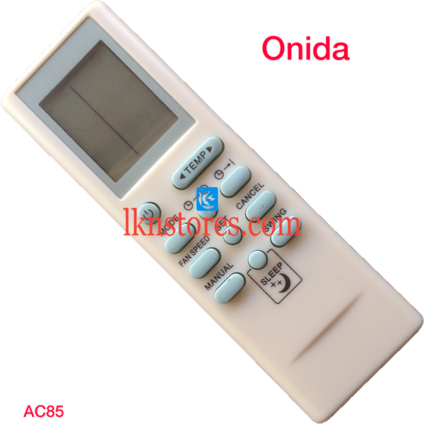ONIDA AC AIR CONDITION REMOTE COMPATIBLE AC85 - LKNSTORES
