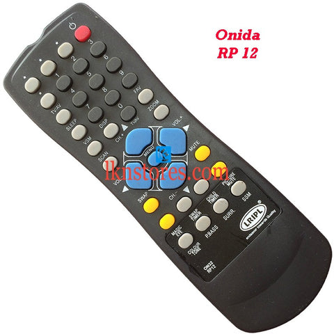 Onida RP 12 replacement remote control