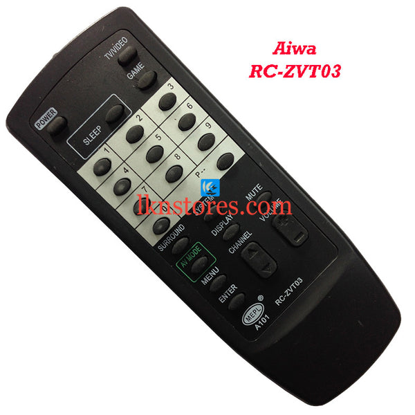 Aiwa ZVT 03 replacement remote control - LKNSTORES