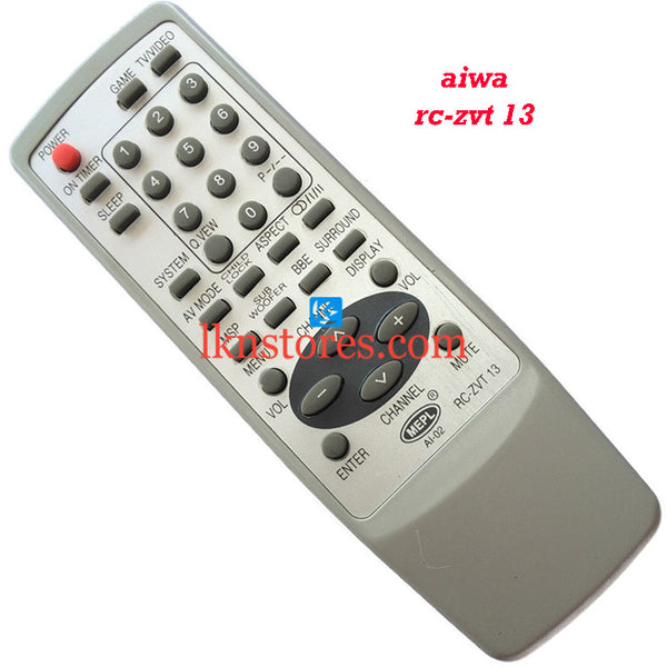 Aiwa ZVT 13 replacement remote control - LKNSTORES