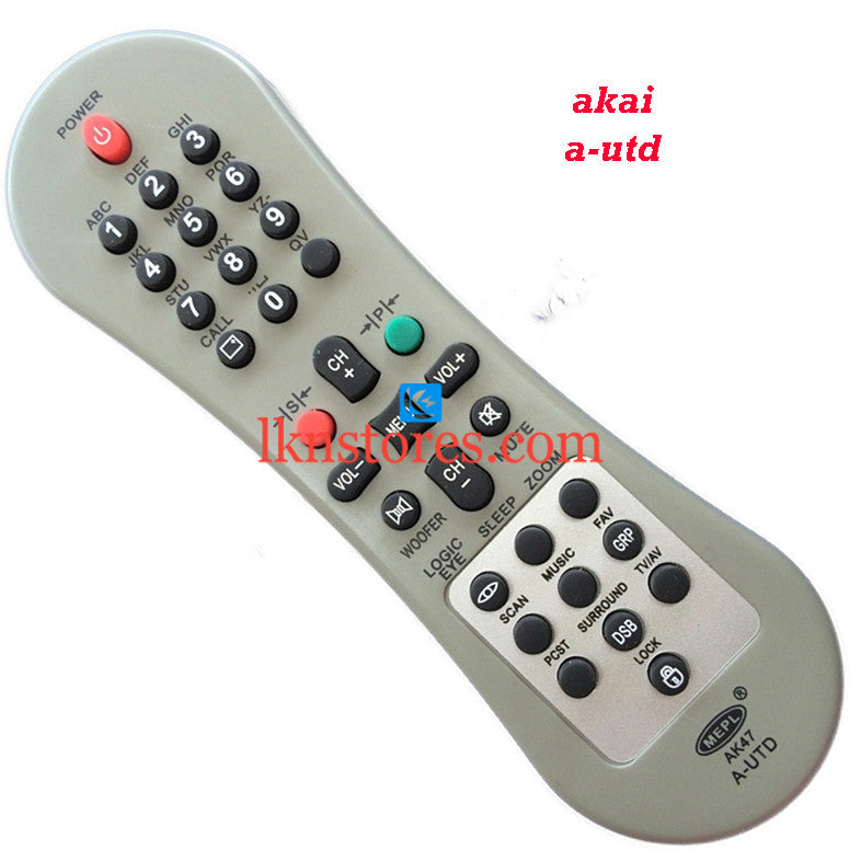 Akai UTD replacement remote control