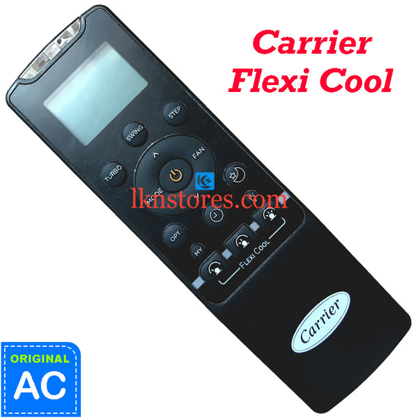 Carrier AC Flexi Cool Original Remote Control RG56CMI-B0 Front View
