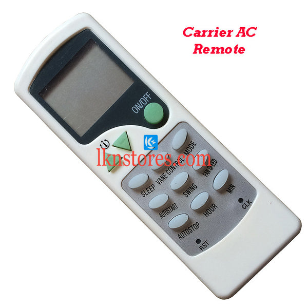 Carrier AC Air Condition Remote Compatible AC7