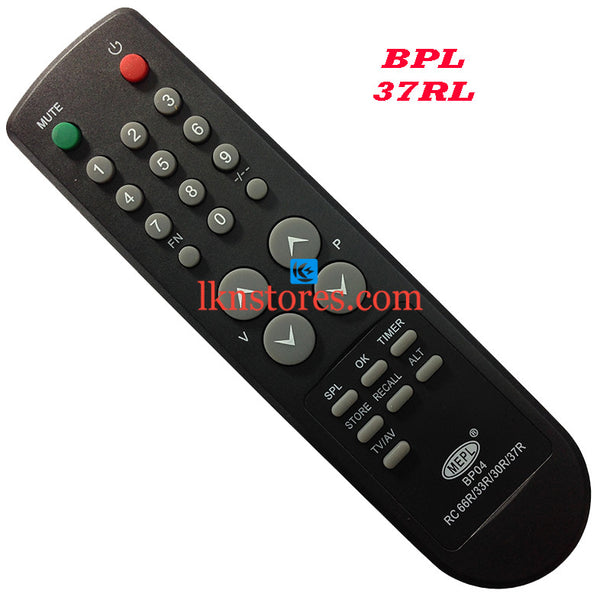 BPL RC 37RL replacement remote control - LKNSTORES