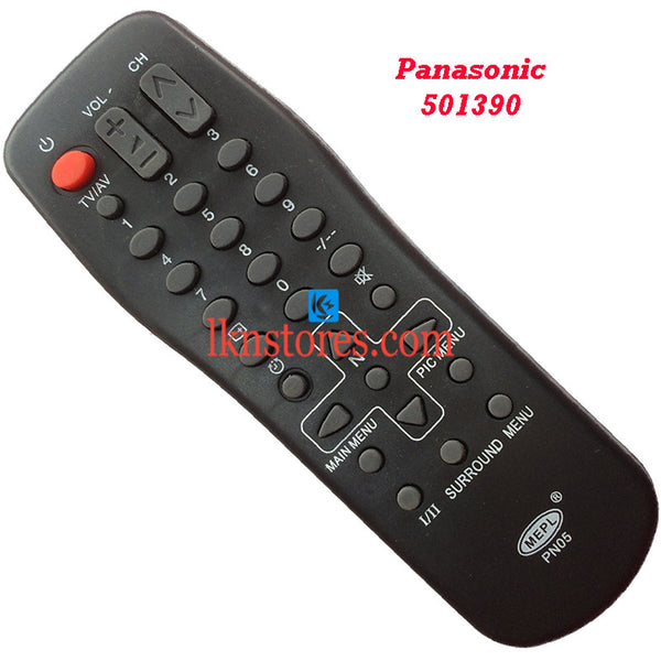 Panasonic 501390 replacement remote control