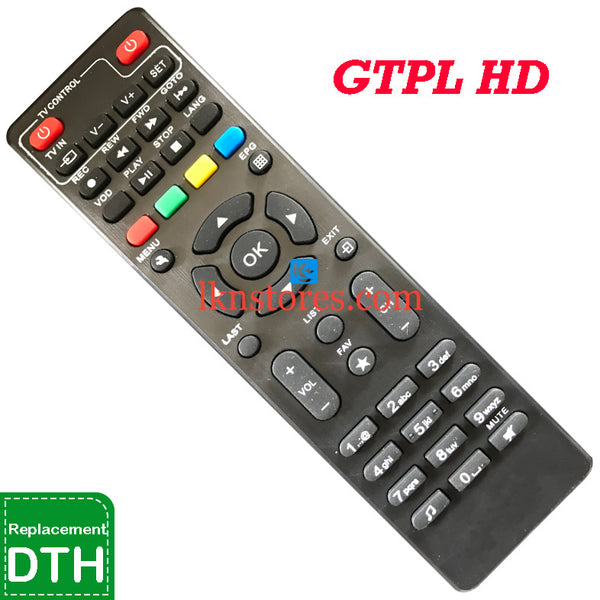 GTPL Set top Box HD DTH Replacement remote control
