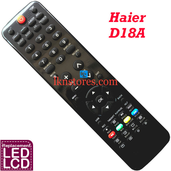 Haier D18A LED Remote Control Compatible Replacement