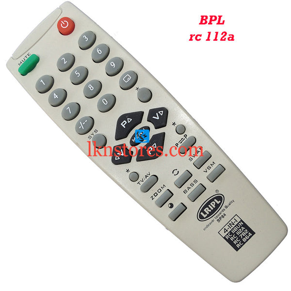 BPL RC 112A replacement remote control - LKNSTORES