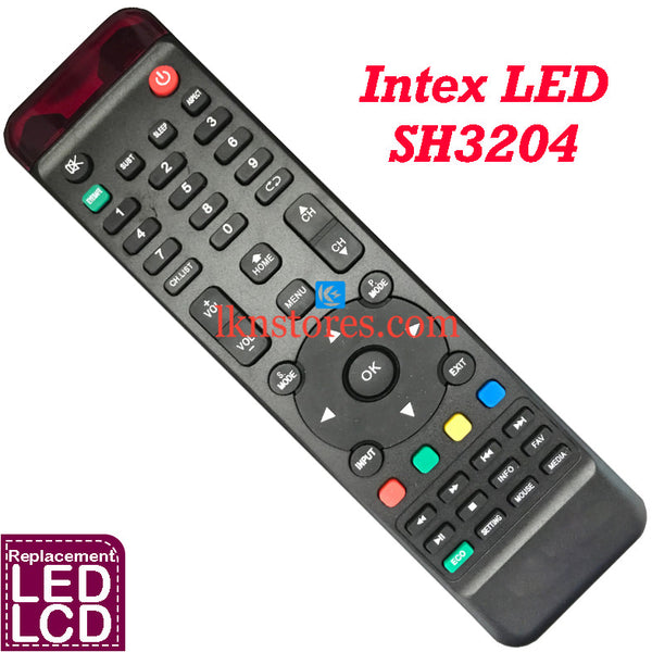 Intex LED LCD SH3204 Replacement Remote Control