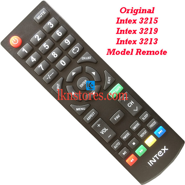 Intex LED LCD 3215 3219 3213 Original Remote Control model3 - LKNSTORES