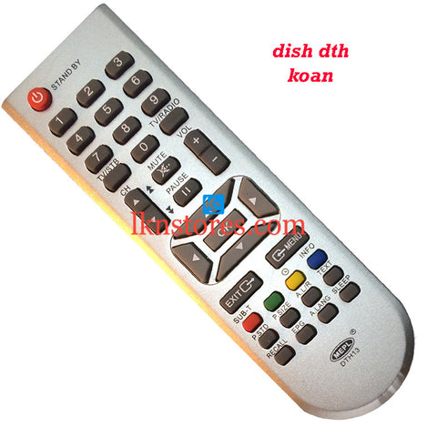 Dish DTH Koan replacement remote control