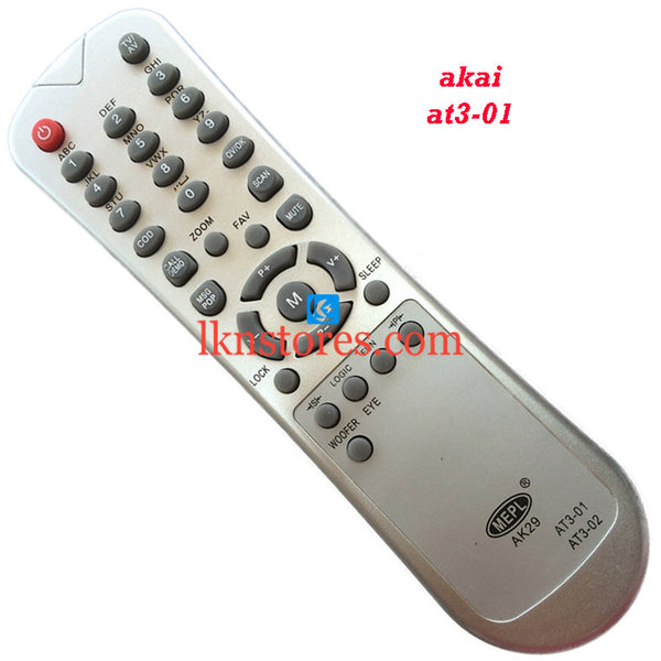 Akai AT3 01 replacement remote control - LKNSTORES
