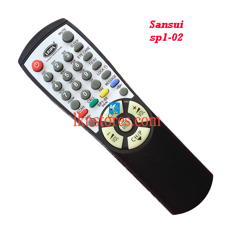 Sansui SP1 02 replacement remote control