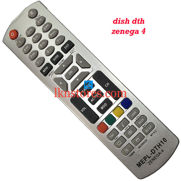Dish DTH Zenega 4 replacement remote control
