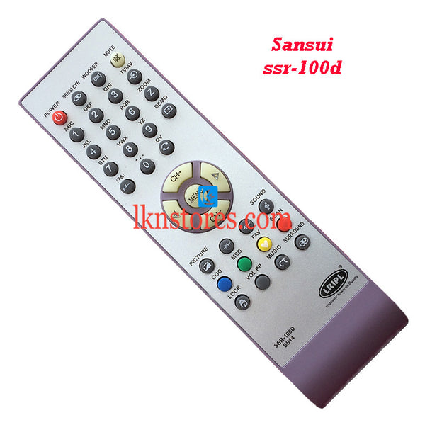 Sansui SSR 100D replacement remote control