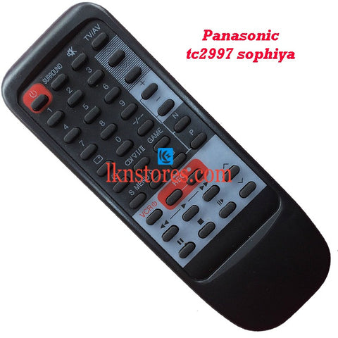 Panasonic TC2997 SOPHIYA replacement remote control