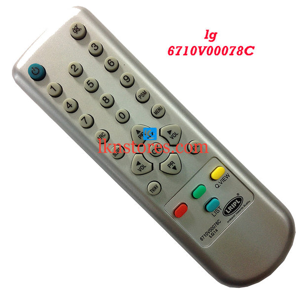 LG 6710V00078C 78A replacement remote control