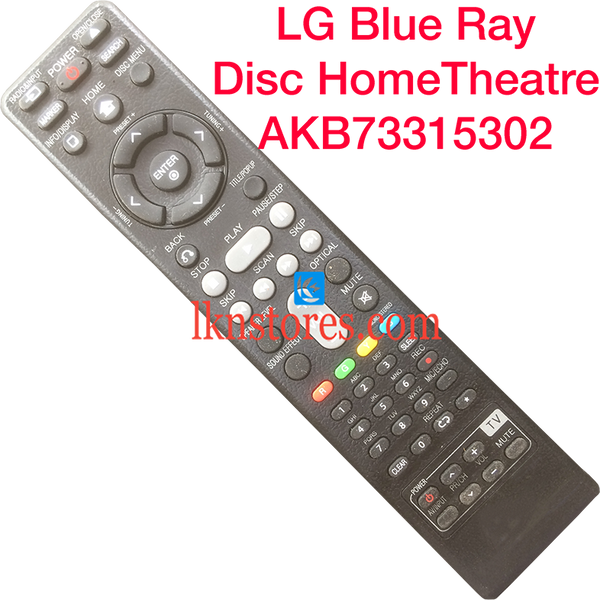 LG Blue-Ray Disc Home Theatre remote AKB73315302 Replacement - LKNSTORES