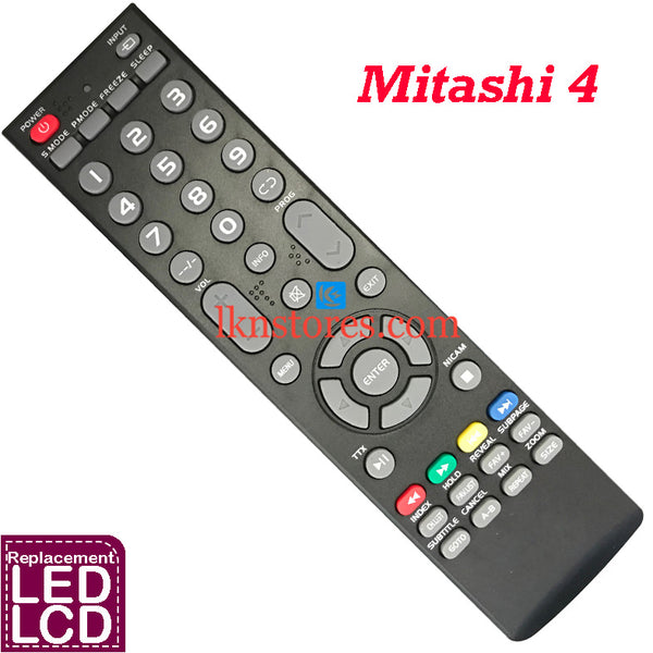 Mitashi LED LCD 4 Replacement Remote Control