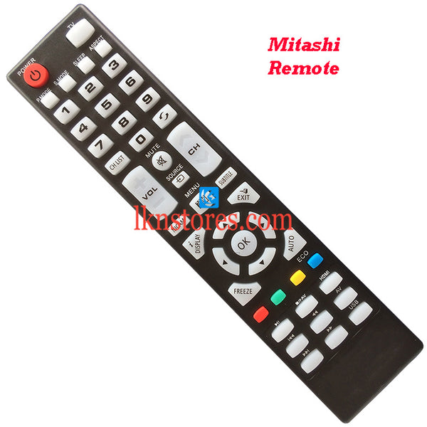 Mitashi LED LCD Remote Control Best Compatible model1 - LKNSTORES