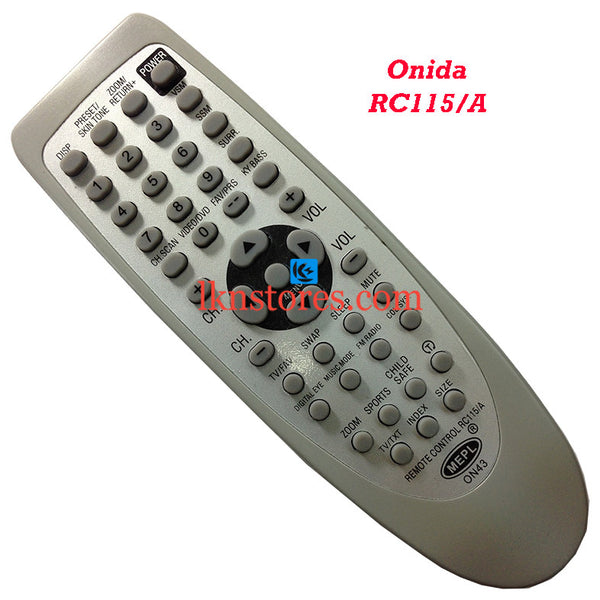 Onida RC 115A replacement remote control - LKNSTORES