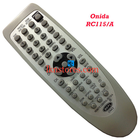 Onida RC 115A replacement remote control