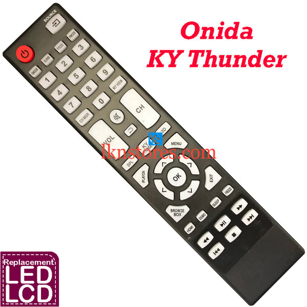Onida LED 3D KY Thunder Replacement Remote Control