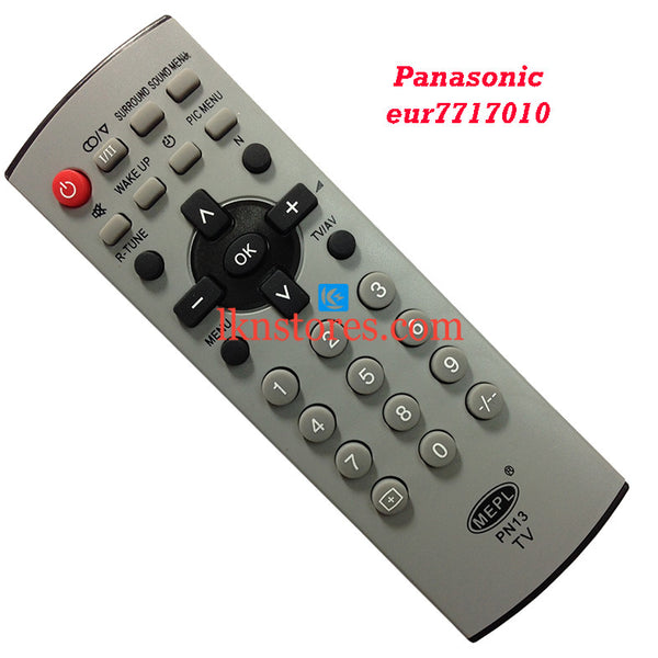 Panasonic EUR 7717010 replacement remote control - LKNSTORES