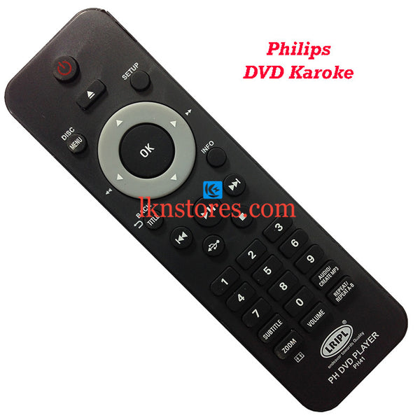 Philips DVP3520 DVD replacement remote control - LKNSTORES