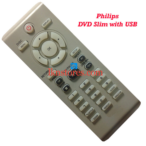 Philips DVP5160 DVD USB replacement remote control - LKNSTORES
