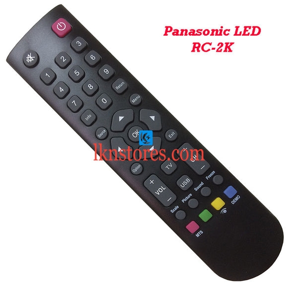 Panasonic RC 2K LED Replacement remote control