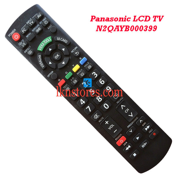Panasonic N2QAYB000399 LCD replacement remote control - LKNSTORES