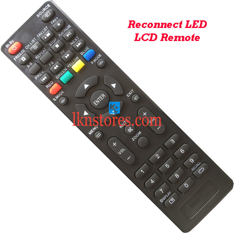 Reconnect RELEG3205 LED LCD Remote Control Best Compatible model4