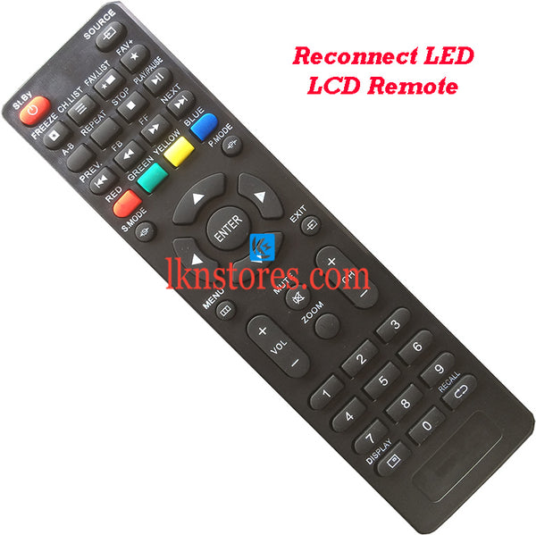 Reconnect RELEG3205 LED LCD Remote Control Best Compatible model4 - LKNSTORES