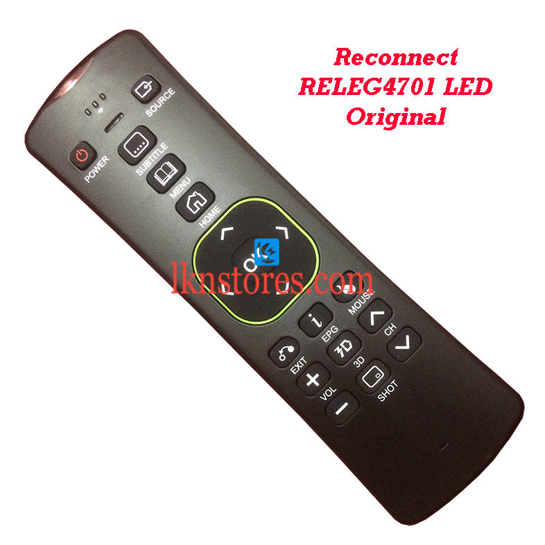 Reconnect RELEG4701 LED Original QWERT IR/RF Remote Control Front