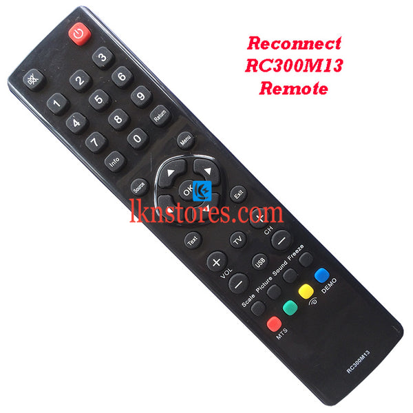 Reconnect RC300M13 LED LCD Remote Control Best Compatible model3 - LKNSTORES