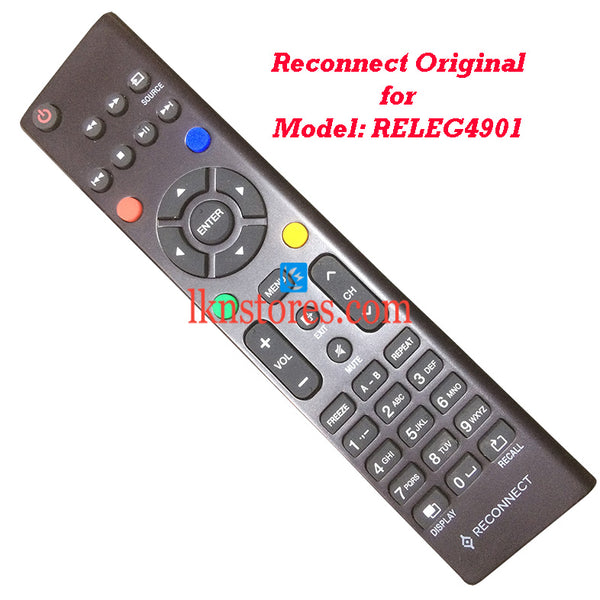 Reconnect RELEG4901 LED Original Remote Control - LKNSTORES
