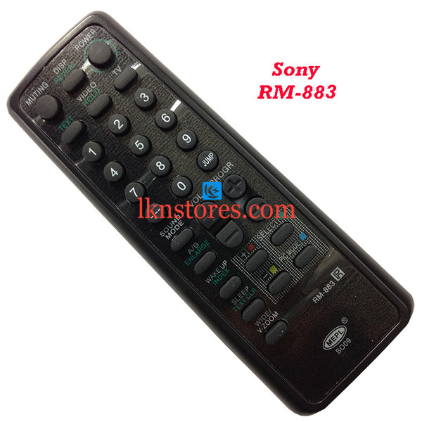 Sony Remote Control RM 883 Wega replacement